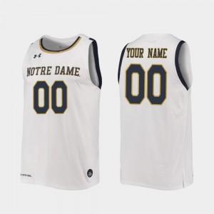 Notre Dame Fighting Irish Customized Jersey Replica White For Men #00 2019-20 College Basketball