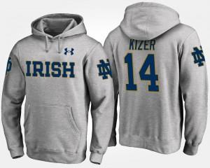 Notre Dame Fighting Irish DeShone Kizer Hoodie Gray Mens #14