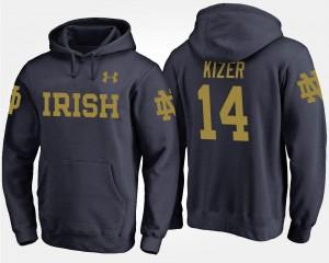 Notre Dame Fighting Irish DeShone Kizer Hoodie #14 Men's Navy