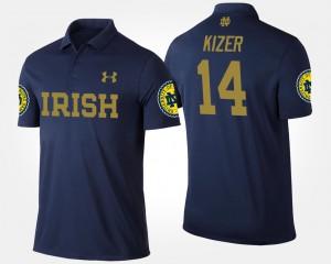 Notre Dame Fighting Irish DeShone Kizer Polo #14 Navy For Men's