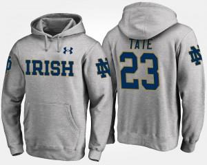 Notre Dame Fighting Irish Golden Tate Hoodie #23 Gray Men's