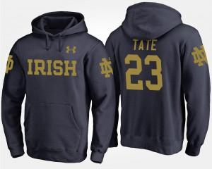 Notre Dame Fighting Irish Golden Tate Hoodie Mens #23 Navy