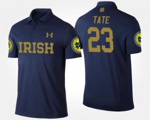 Notre Dame Fighting Irish Golden Tate Polo #23 Navy Men