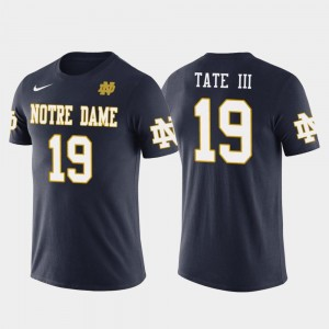 Notre Dame Fighting Irish Golden Tate T-Shirt Navy Future Stars Men Philadelphia Eagles Football #19
