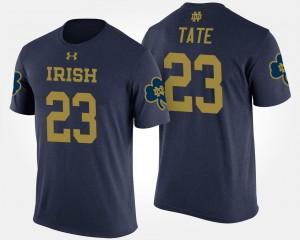 Notre Dame Fighting Irish Golden Tate T-Shirt For Men #23 Navy