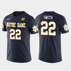 Notre Dame Fighting Irish Harrison Smith T-Shirt For Men Future Stars #22 Navy Minnesota Vikings Football