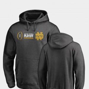 Notre Dame Fighting Irish Hoodie 2018 College Football Playoff Bound Heather Gray Cadence Men's