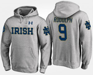 Notre Dame Fighting Irish Kyle Rudolph Hoodie For Men's #9 Gray