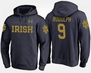 Notre Dame Fighting Irish Kyle Rudolph Hoodie #9 Navy Men's
