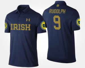 Notre Dame Fighting Irish Kyle Rudolph Polo Navy #9 For Men's