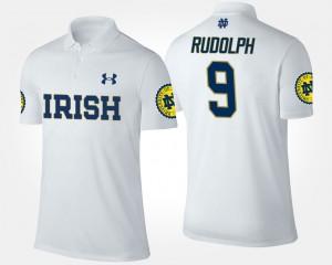 Notre Dame Fighting Irish Kyle Rudolph Polo #9 Men's White