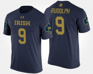 Notre Dame Fighting Irish Kyle Rudolph T-Shirt Navy #9 For Men's