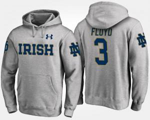 Notre Dame Fighting Irish Michael Floyd Hoodie #3 Men Gray