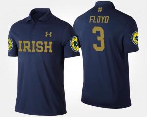 Notre Dame Fighting Irish Michael Floyd Polo #3 For Men's Navy