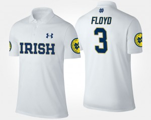 Notre Dame Fighting Irish Michael Floyd Polo #3 Men White