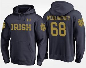Notre Dame Fighting Irish Mike McGlinchey Hoodie #68 Navy Men