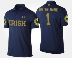 Notre Dame Fighting Irish Polo Men No.1 Short Sleeve #1 Navy