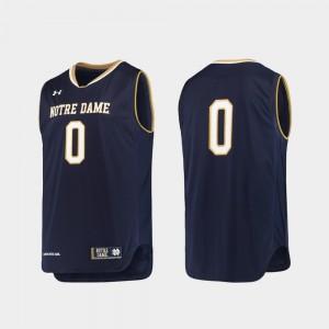 Notre Dame Fighting Irish Jersey Replica Navy College Basketball For Men #0