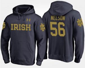 Notre Dame Fighting Irish Quenton Nelson Hoodie #56 Navy Men