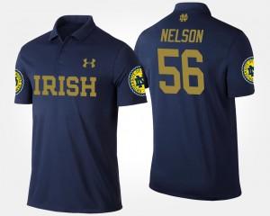 Notre Dame Fighting Irish Quenton Nelson Polo Men's #56 Navy