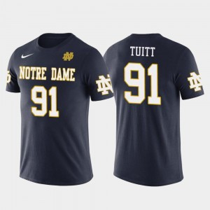 Notre Dame Fighting Irish Stephon Tuitt T-Shirt Mens Navy Pittsburgh Steelers Football #91 Future Stars