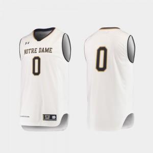 Notre Dame Fighting Irish Jersey College Basketball White Replica For Men #0