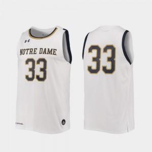 Notre Dame Fighting Irish Jersey Replica College Basketball Mens #33 White