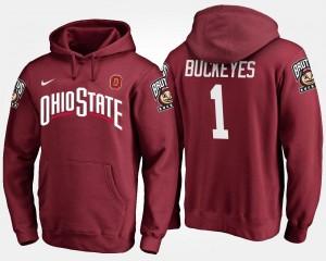 Ohio State Buckeyes Hoodie Mens #1 Scarlet No.1