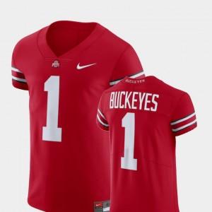 Ohio State Buckeyes Jersey Football Elite Men's V-Neck Scarlet #1