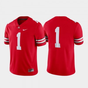 Ohio State Buckeyes Jersey Scarlet Game #1 College Football For Men's