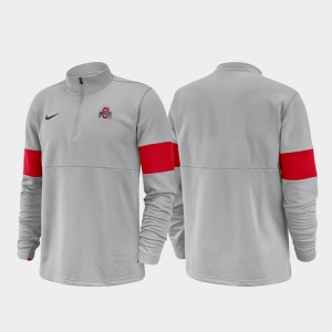 Ohio State Buckeyes Jacket Half-Zip Performance 2019 Coaches Sideline Mens Anthracite