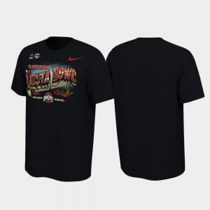 Ohio State Buckeyes T-Shirt Black Men 2019 Fiesta Bowl Bound Illustrations