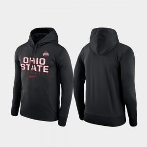 Ohio State Buckeyes Hoodie Mens Football Practice Performance Black