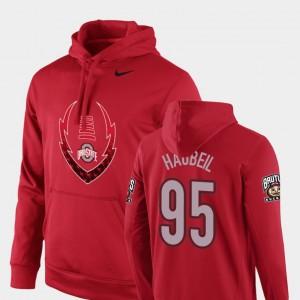 Ohio State Buckeyes Blake Haubeil Hoodie #95 Scarlet Icon Circuit Football Performance For Men