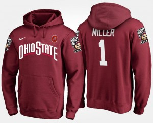 Ohio State Buckeyes Braxton Miller Hoodie #5 For Men's Scarlet