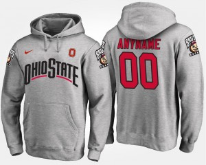 Ohio State Buckeyes Custom Hoodie For Men #00 Gray