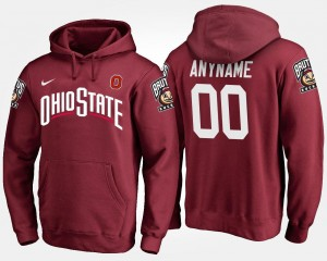 Ohio State Buckeyes Customized Hoodies #00 Scarlet For Men's