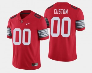 Ohio State Buckeyes Customized Jersey Scarlet #00 For Men 2018 Spring Game Limited