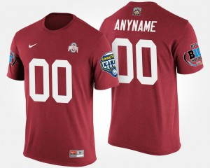 Ohio State Buckeyes Customized T-Shirt Men's Big Ten Conference Cotton Bowl Bowl Game #00 Scarlet