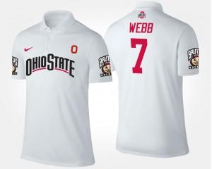 Ohio State Buckeyes Damon Webb Polo #7 White Mens