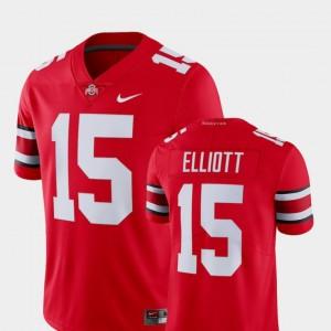 Ohio State Buckeyes Ezekiel Elliott Jersey Alumni College Limited Football Scarlet #15 For Men