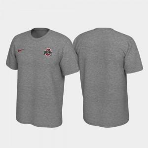 Ohio State Buckeyes T-Shirt Heathered Gray Left Chest Logo Legend Men