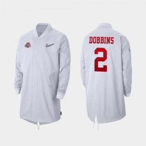 Ohio State Buckeyes J.K. Dobbins Jacket White #2 2019 College Football Playoff Bound Full-Zip Sideline Mens