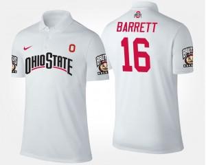 Ohio State Buckeyes J.T. Barrett Polo For Men's White #16