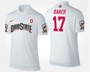 Ohio State Buckeyes Jerome Baker Polo #17 Men's White