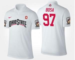Ohio State Buckeyes Joey Bosa Polo White For Men #97