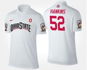 Ohio State Buckeyes Johnathan Hankins Polo White #52 Men