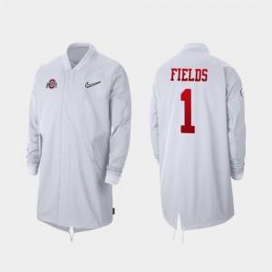 Ohio State Buckeyes Justin Fields Jacket For Men's White 2019 College Football Playoff Bound #1 Full-Zip Sideline