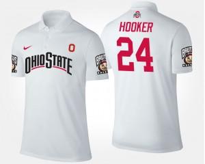 Ohio State Buckeyes Malik Hooker Polo White #24 For Men's