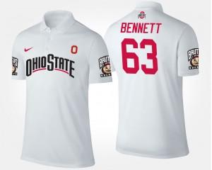 Ohio State Buckeyes Michael Bennett Polo #63 White Mens